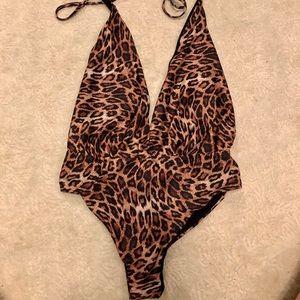 Zara Animal print bodysuit